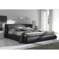 rossetto coco king platform bed in brown finish for  in