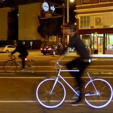 Night Rider Bicycle Lights Reflective Bike Will Light Up At Night To Keep Riders Safe