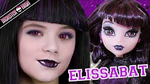 monster high elissabat doll makeup tutorial