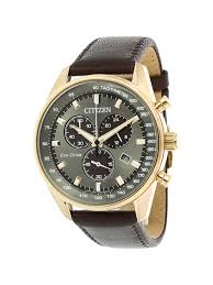 citizen men s at2393 17h brown leather eco drive fashion watch 0