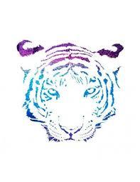 Metalický Tygr Nalepovací Tetování