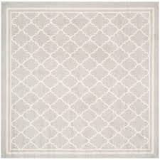 safavieh amherst light gray beige 7 ft x indoor outdoor pertaining to square rugs 7x7 ideas