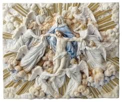 madonna holding with angels wall