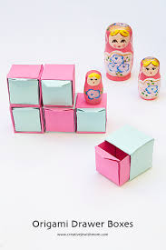 How To Make Drawers Origami Pull Out Drawers Make Sweet Gift Boxes Creative Jewish Mom