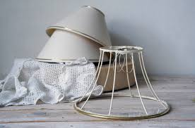 Vintage Lamp Shade Wire Lamp Shade Wire Frame Skeleton Shade Wireframe Textile Lamp Shade Frame Soft Shade Shade Frame Shabby Chic