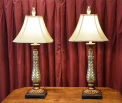 pair of table lamps goldbronze painted from the hotel macdonald pair lamps r28