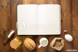 Bakery Ingredients On Wooden Background Buy This Stock Photo And