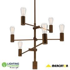 diaz aged brass multi directional 6 light pendant light lighting illusions