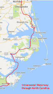 Icw Mileage Chart Nc Intercoastal Waterways Map Related Keywords Suggestions