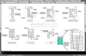 Small Picture All types of reinforced concrete stairs reinforcement plan views