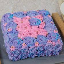 Floral Touch Mothers Day Chocolate Cake Eggless Online Cake