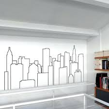 city skyline wall decals sticker per la skyline new city skyline vinyl wall stickers trend wall decal city skyline