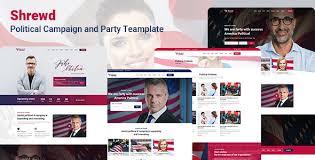Shrewd Political Html5 Template Bootstrap4