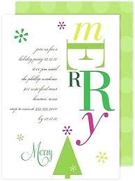 Holiday Party Invitation Verbiage Merry Holiday Invitation Card