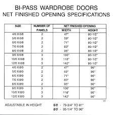 sliding closet door sizes rough opening medium size of doors height