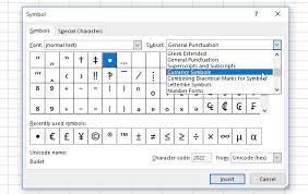 special characters in excel easy