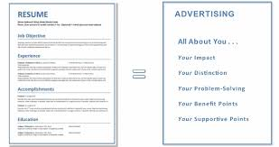 To Create A Resumes Your Resume Is An Advertisement For You Job Advice Employment