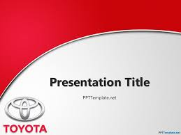 Free Powerpoint Theme Free Toyota With Logo Ppt Template