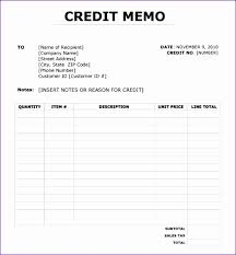 Sample Credit Note Invoice Credit Memo Sample Familycourt Us