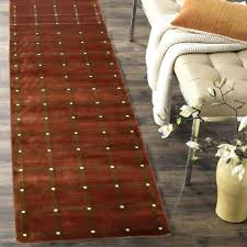 fresh 10 ft runner rug for runner rug 2 x handmade checd rust wool runner rug
