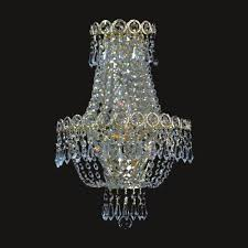 european style 3 lights clear crystal gold finish wall sconce