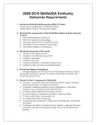 Skillsusa Resume skills usa resumes Enderrealtyparkco 1