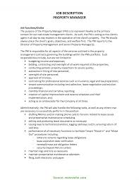 Property Manager Job Description Best Property Management Position Description Property Management 1