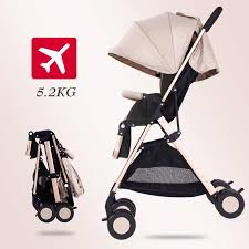 <b>High landscape stroller can</b> sit reclining light portable folding child ...