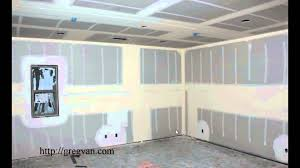 how to hang sheet rock why do they install a middle section of drywall in walls taller than