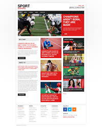 Baseball Websites Templates Website Template 48556 Sport School Club Custom Website Template