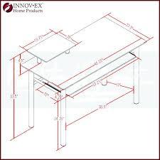 innovex glass computer desk l shaped computer desk