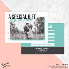 Psd Photo Gift Card Template Graphic By Daphnepopuliers Birthday