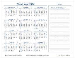 Ready to print printable 2014 calendars. Fiscal Year Calendar Template For 2021 And Beyond