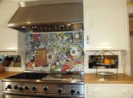 view in gallery amazingly detailed stove backsplash with colorful plates