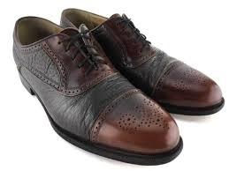 johnston murphy domani brown italian leather cap toe brogue oxford shoes mens 9