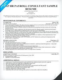 consultant sample resume sap hr payroll consultant resume sample sap abap  consultant sample resume