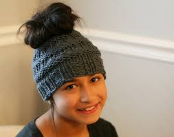 Bun Hat Pattern Mesmerizing The Best Free Knit Ponytail Hat Patterns Aka Messy Bun Beanies A