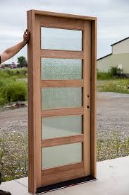 shaker front doorShaker Exterior Door with Rain Glass