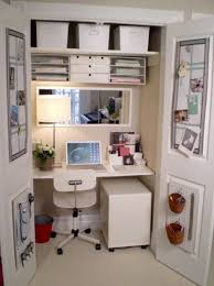 Tiny office Super Convert Small Closet Into Tiny Office Space Could Use Of These Spaces For An Actual Personal Office And The Other For Sewingcrafting Pinterest Convert Small Closet Into Tiny Office Space Could Use Of