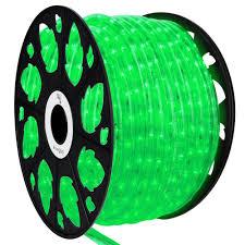 Led Rope Lights Home Depot Wintergreen Lighting 150 Ft Led Green Rope Light Kit