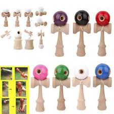 Wooden Ball On String Game Traditional Japanese Kendama Wooden Cup Ball String Stick Sport 27