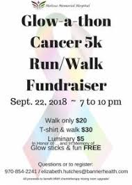 Glow A Thon Cancer 5k Run Walk Fundraiser Discover Northeast Colorado