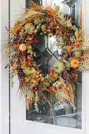 how to make your own fall wreath by the wood grain cottage