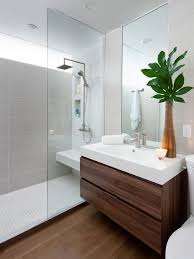 bathroom designing. Example Of A Minimalist Gray Tile Bathroom Design In Toronto With An Integrated Sink, Flat Designing S