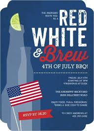 Red White Brew Celebration Fourth Of July Invite