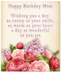 Birthday Quotes For Mom Adorable Happy Birthday Mom Heartfelt Mother's Birthday Wishes