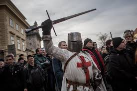 Image result for anti muslim protests in europe