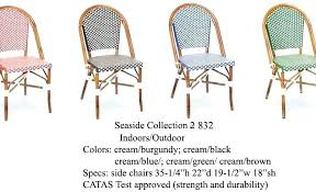 french bistro chairs for impressive outdoor cafe woven rattan table and uk