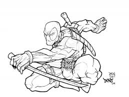 Small Picture Best Deadpool Coloring Images Printable Coloring Pages anduus