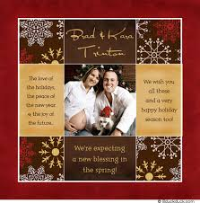 Christmas Birth Announcement Ideas Holiday Pregnancy Announcement Wording Christmas Cards Announcing